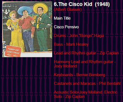 Zip Caplan Monsters and Heroes 6 The Cisco Kid