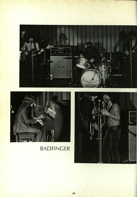 1970 1971 SUNY Geneseo Yearbook Badfinger