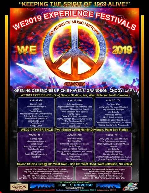 WE2019 Experiemce Festivals (August 2019)