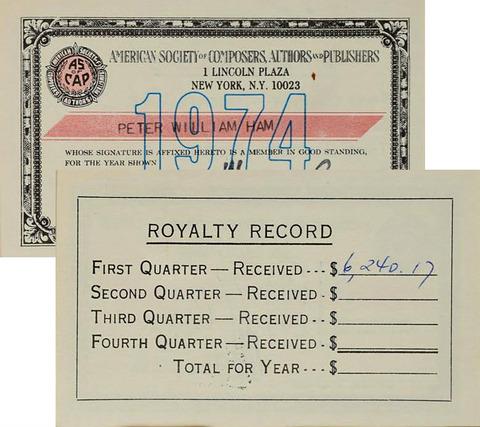 ASCAP 1974 pwh