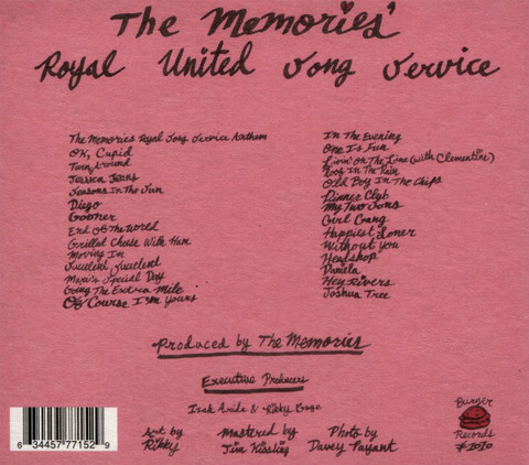 The Memories Royal United Song Service back