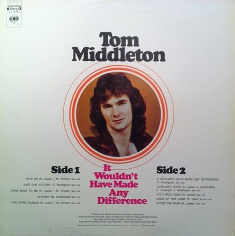 Tom Middleton - ES 90261 back