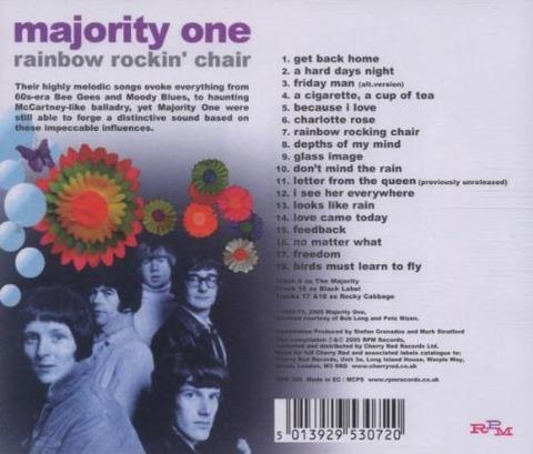Majority One - Rainbow Rockin' Chair (2005) back