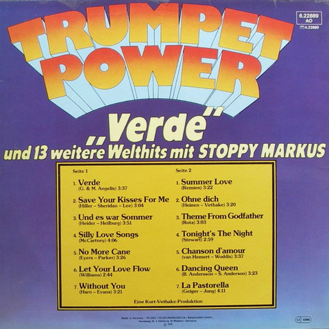 Stoppy Markus - Trumpet Power back