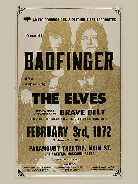Paramount Theatre Feb 3, 1972 reproduction poster