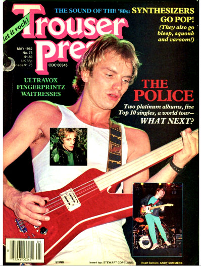 Trouser Press #73 May 1982 cover
