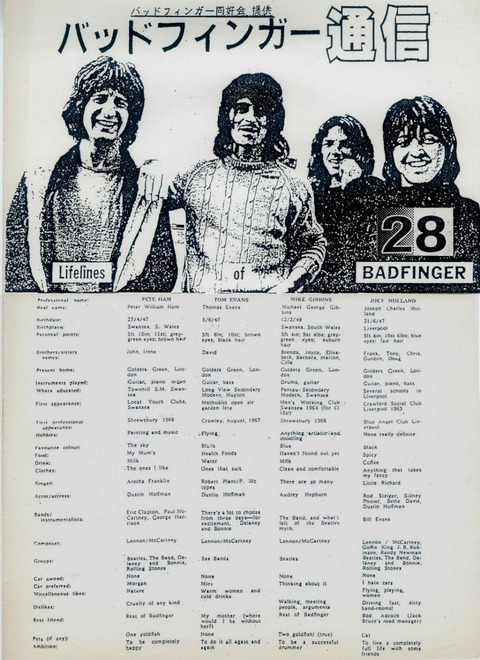 Badfinger Post #28 (June 1991)