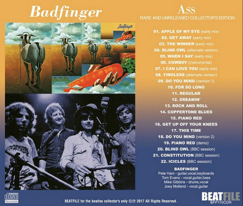 Badfinger Ass Rare and Unreleased BFP110CDR back