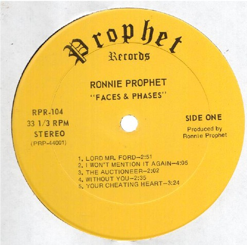 Ronnie Prophet - RPR-104 r