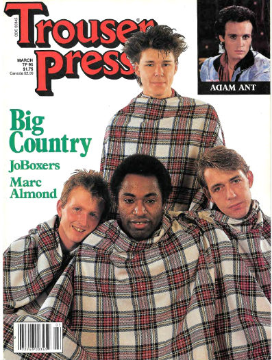 Trouser Press #95 March 1984 cover