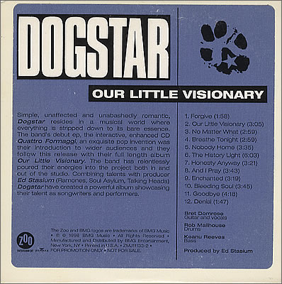 Dogstar - Our Little Visionary  (1996) advance cd