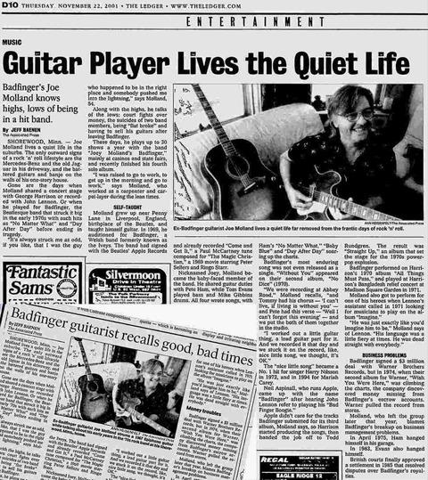 Lakeland Ledger+Daily Gazette Nov 2001