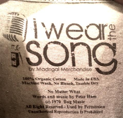 Badfinger - No Matter What lyrics I Wear The Song T-shirt c
