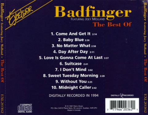 bjm CD 1997 Excelsior Best of Badfinger featuring Joey back