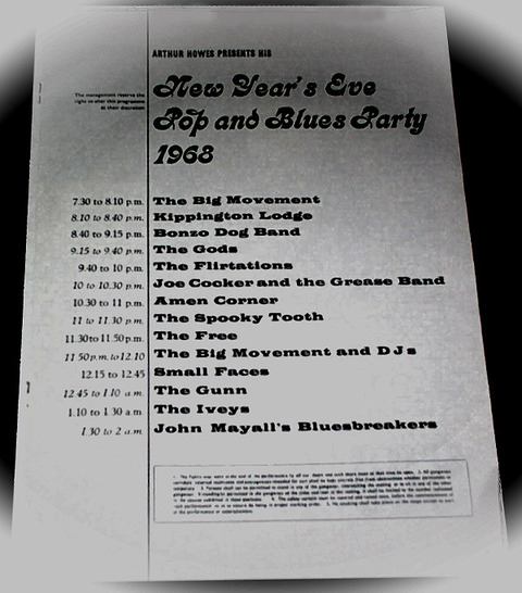 New Year's Eve Pop and Blues Party 1968 Concert Program i