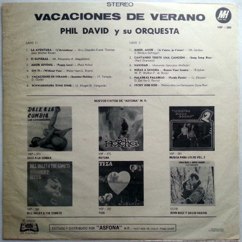 Phil David y Su Orquestra - Vacaciones de verano back (1972)