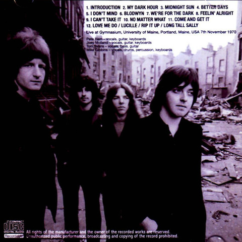 Badfinger - Portland 1970 Speed Corrected b