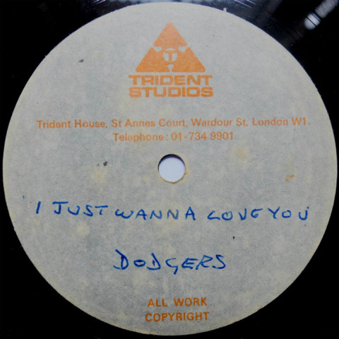 Dodgers - I Just Wanna Love You Trident 1-sided acetate