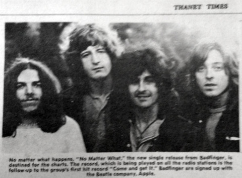 Thanet Times (January 5, 1971) Badfinger