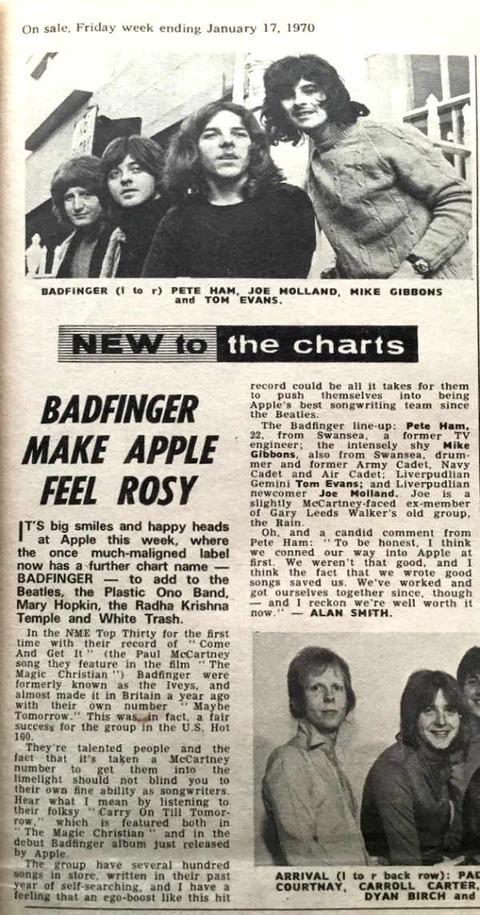 NME (January 17, 1970) badfinger