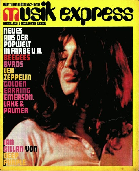 Musikexpress #183 (March 1971) cover