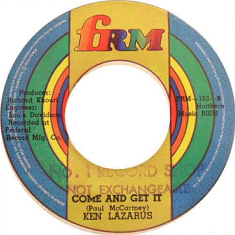 Ken Lazarus Come and Get It