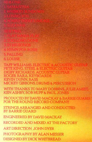 Digby Richards - Whiskey Sundown (1978) back