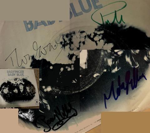 Badfinger - Baby Blue autograph 45