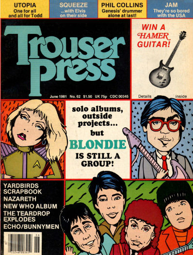 Trouser Press #62 June 1981 cover