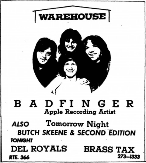 Warehouse Nov 14, 1970 ad The Ithacan 19701113