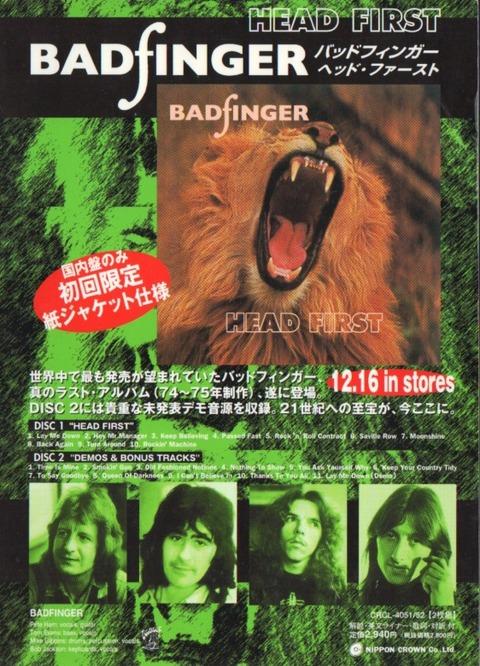 Badfinger - Head First ad 2000