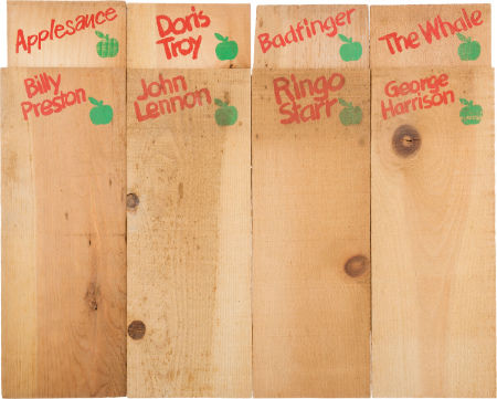 Apple Records Retail Display Eight Wooden Dividers