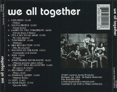 We All Together 1997 Lazarus back