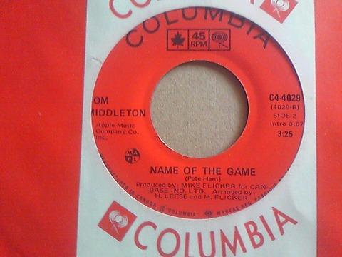 Tom Middleton - Name of the Game 1973