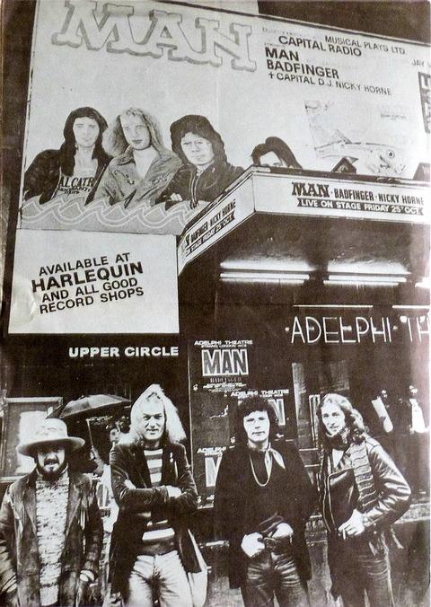 1974 Man+Badfinger Concert Programme cover