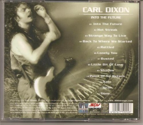 Carl Dixon - Into The Future (2001) back