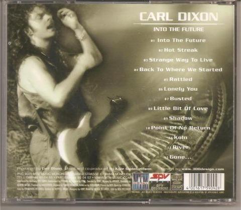 Carl Dixon - Into The Future (2001) back
