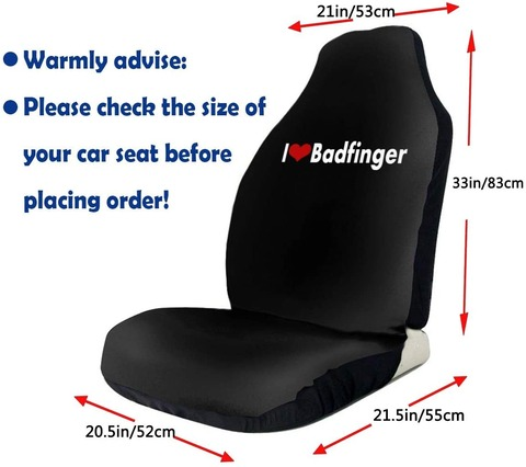 Planet Offar - I Love Badfinger Car Seat Cover a