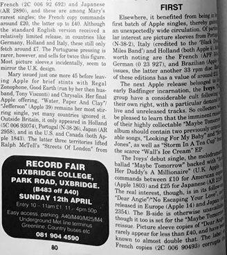 Record Collector #152 (April 1992) 80