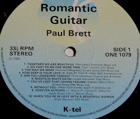 Paul Brett - Romantic Guitar ONE 1079 r 2