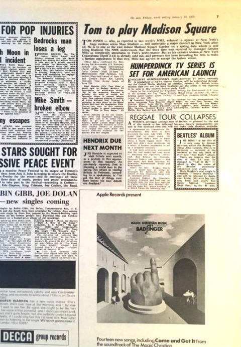 NME (January 10, 1970) p7