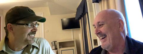 Chris Thomas (R) with Dan Matovina