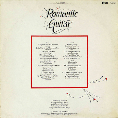 Paul Brett - Romantic Guitar ONE 1079 back