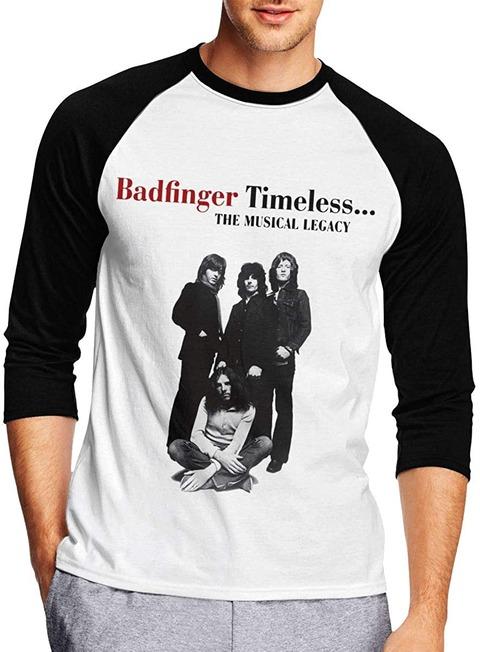 Meixin - Badfinger Timeless メンズ Tシャツ 七分袖