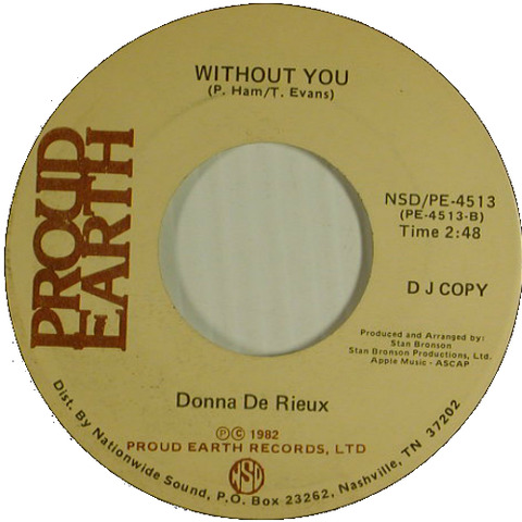 Donna De Rieux - Without You 1982