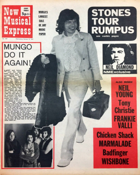 NME #1257 February 27, 1971 cover