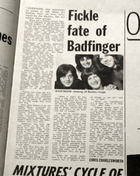 Melody Maker (January 30, 1971) badfinger