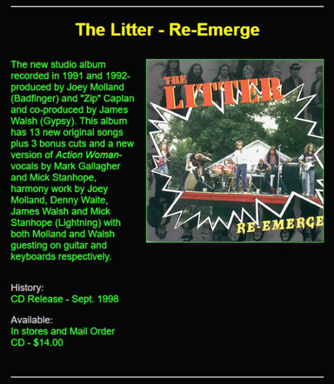 The Litter Re-Emerge