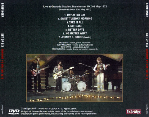 Badfinger - Set of Six Granada TV Master 1972 DVDR b