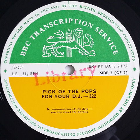 BBC 322 Pick of the Pops for Your DJ